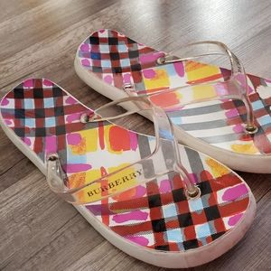 Burberry Jelly flip flops size 10 womens